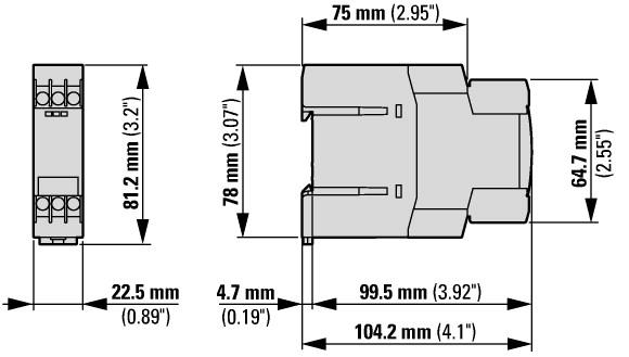 Moeller-Eaton electrónico tiempo relés etr4-70-a Relais ETR 4-70-a OVP 031888